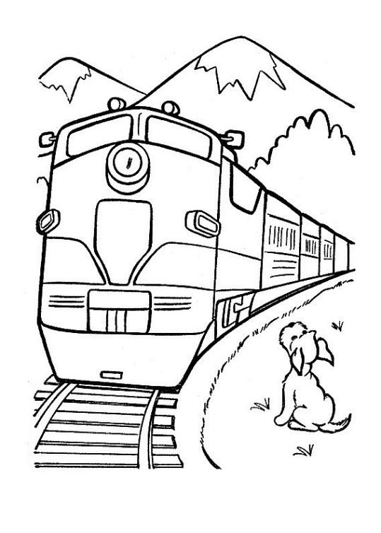 Ausmalbilder Für Kinder Zug 1