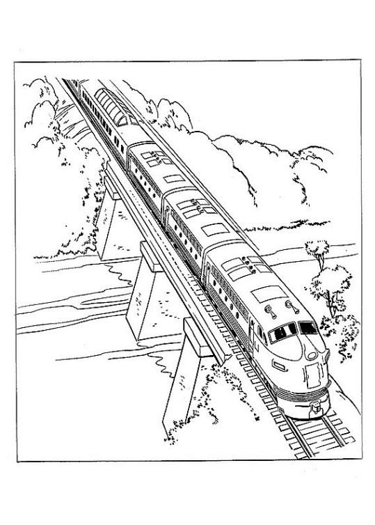 Ausmalbilder Für Kinder Zug 10