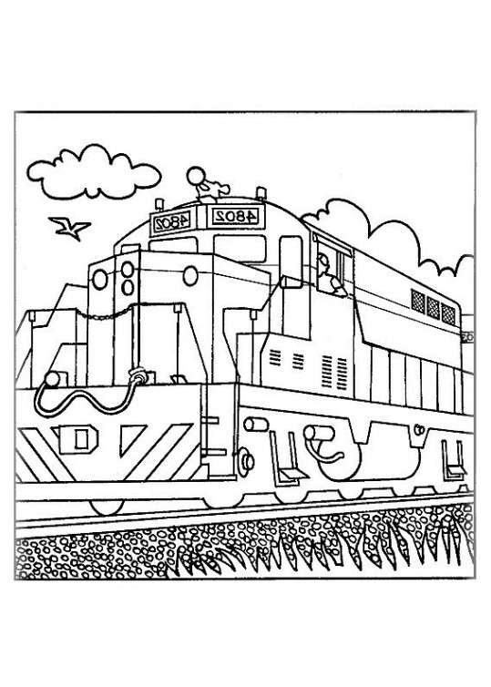 Ausmalbilder Für Kinder Zug 15