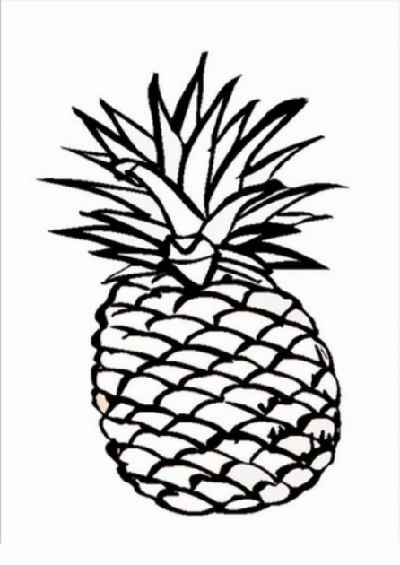 Ausmalbilder f r Kinder Ananas