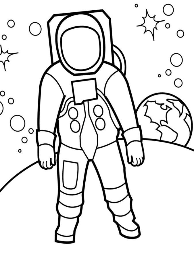 Ausmalbilder für Kinder Astronaut 9