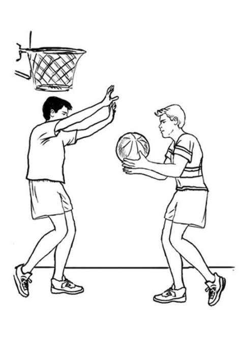 ausmalbilder für kinder basketball 9