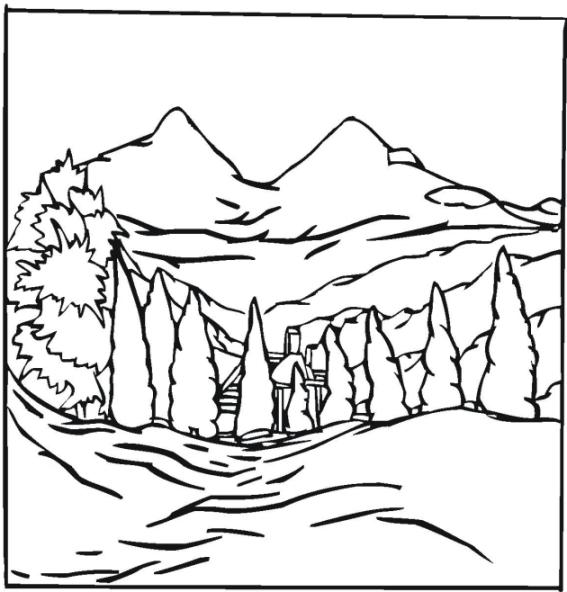 ausmalbilder für kinder berg gebirge 10