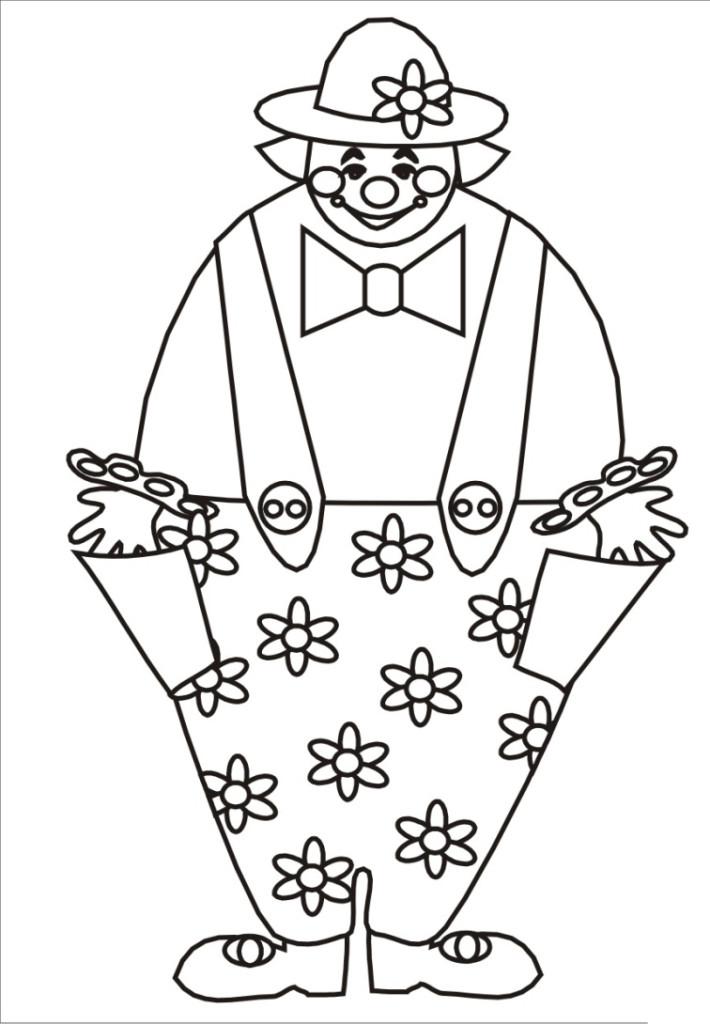 ausmalbilder für kinder clown 3