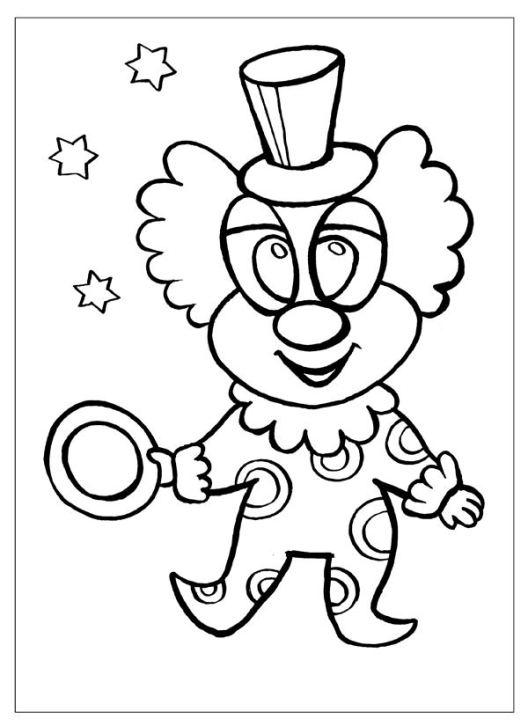 ausmalbilder für kinder clown 8