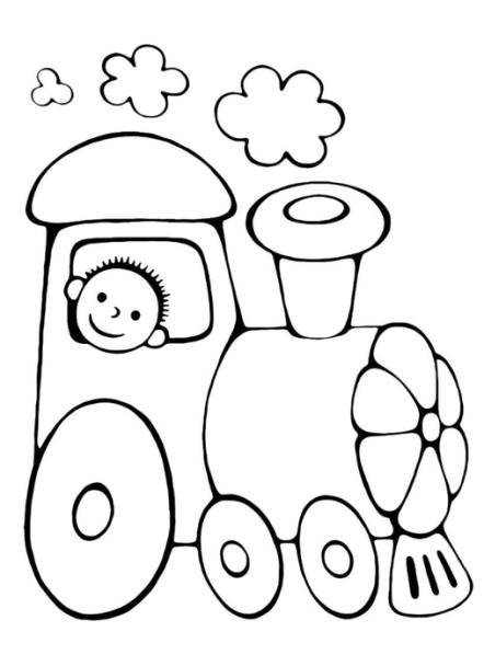 ausmalbilder für kinder dampflokomotive 11