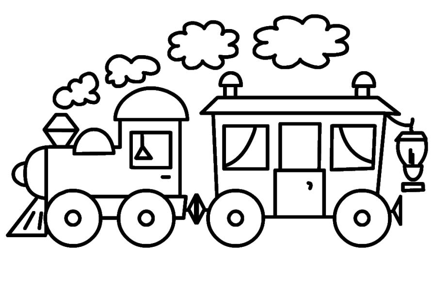 ausmalbilder für kinder dampflokomotive 5