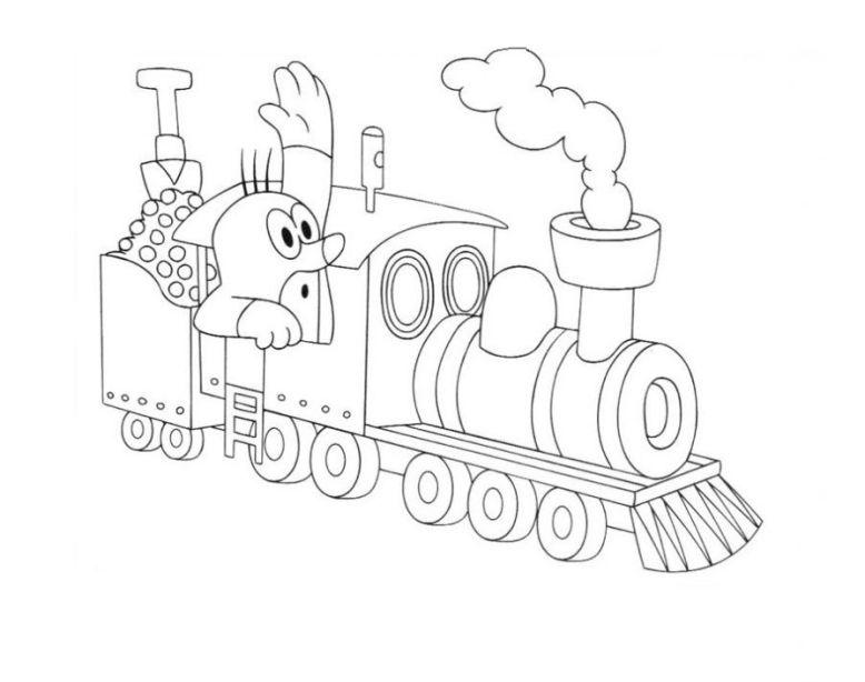 ausmalbilder für kinder dampflokomotive 8