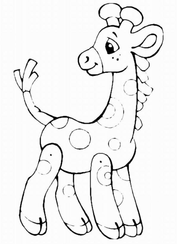 ausmalbilder für kinder giraffe 11