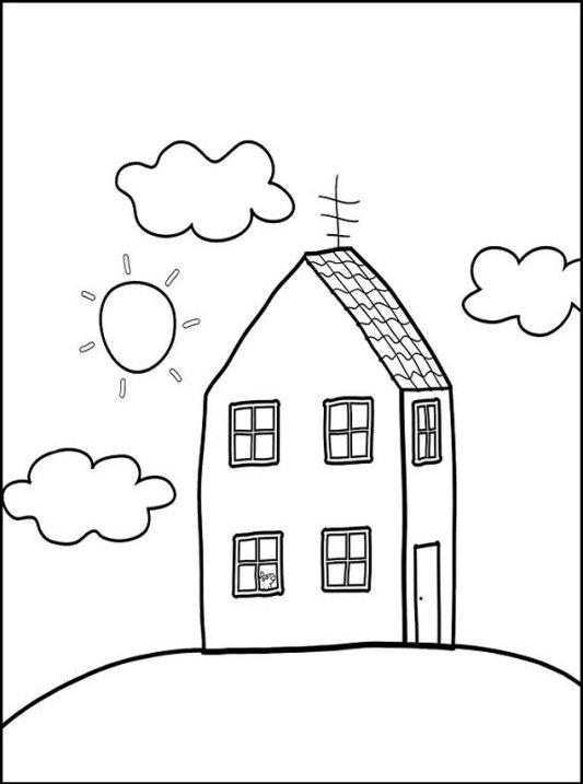 Ausmalbilder Für Kinder Haus 3