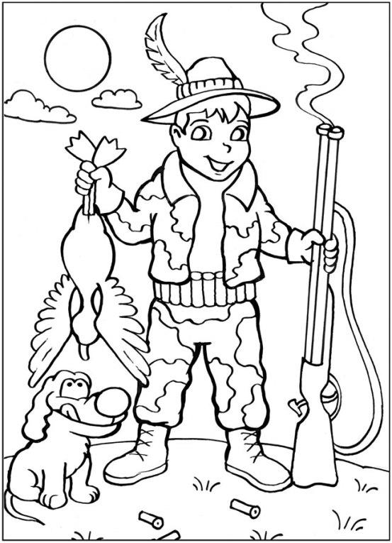 Ausmalbilder Jäger Zum Ausdrucken: Ausmalbilder Für Kinder Jager 3