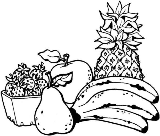 ausmalbilder für kinder obst fruchte 7