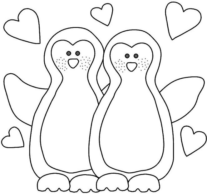 ausmalbilder für kinder pinguin 2