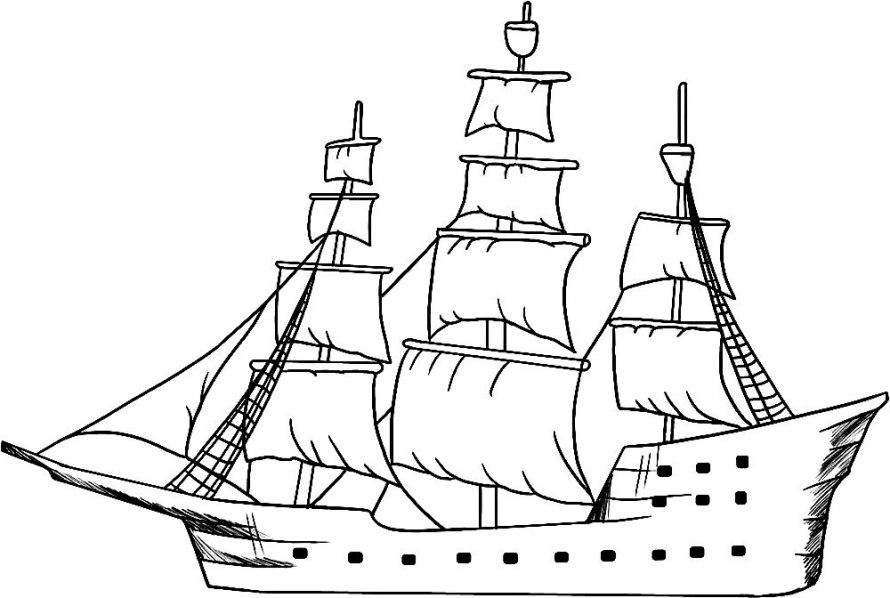 ausmalbilder für kinder piratenschiff 11