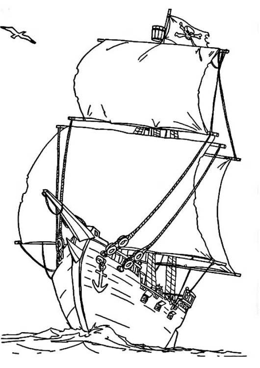 ausmalbilder für kinder piratenschiff 9