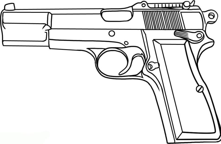 Ausmalbilder F 252 R Kinder Pistole 3