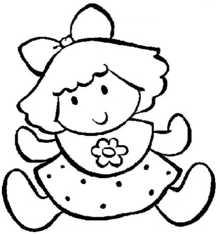 Ausmalbilder F 252 R Kinder Puppe 2