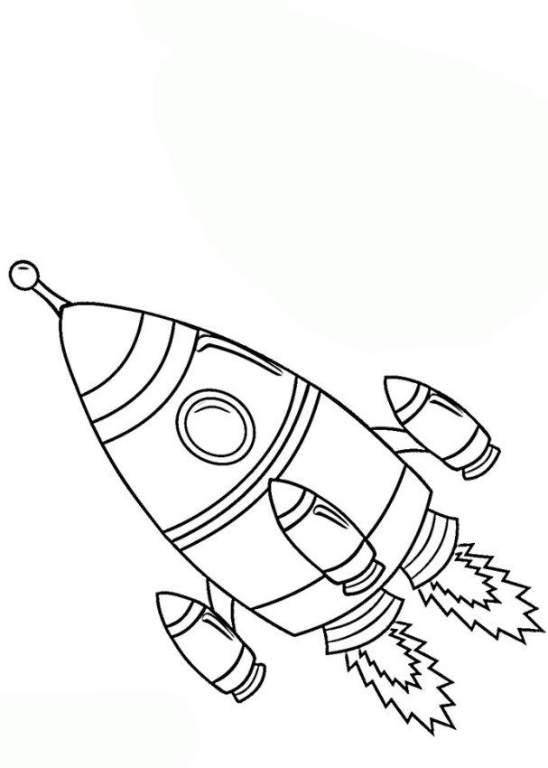 malvorlage kinder rakete  kostenlos zum ausdrucken