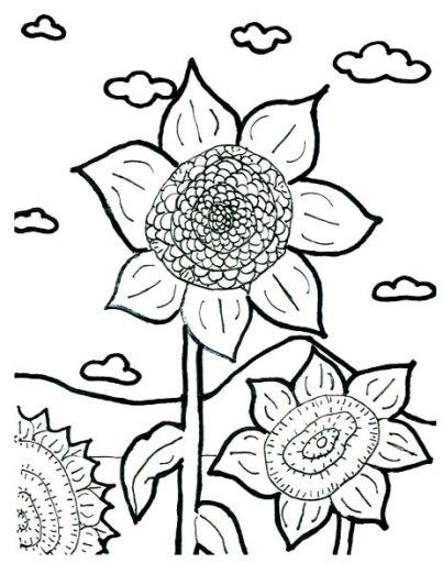 ausmalbilder für kinder sonnenblume 3