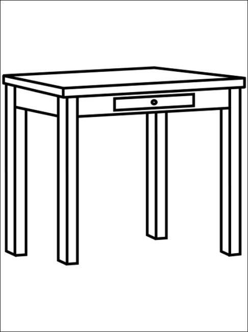 Tisch ausmalbild  Ausmalbilder für Kinder Tisch 3
