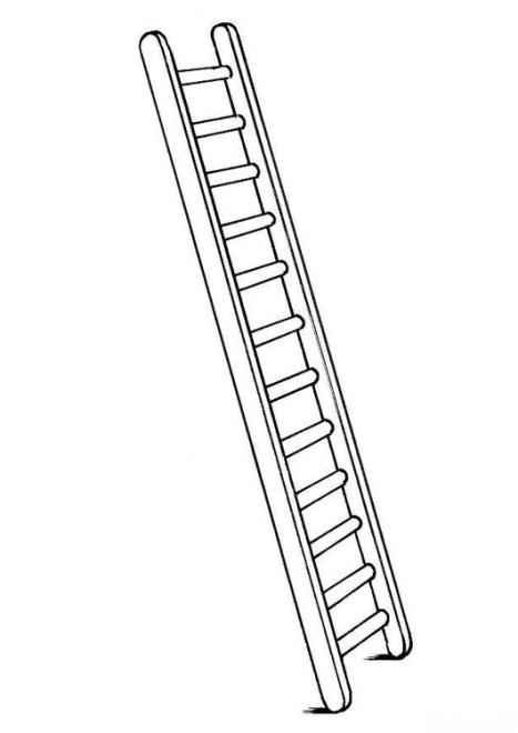 ausmalbilder f r kinder treppe leiter 4. Black Bedroom Furniture Sets. Home Design Ideas