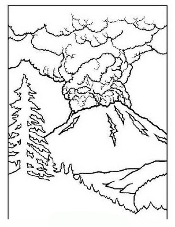 ausmalbilder für kinder vulkan 4