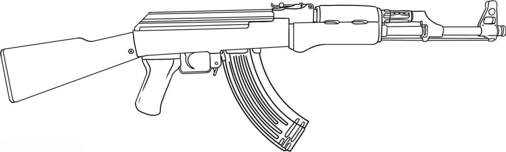 Ausmalbilder F 252 R Kinder Waffe 6