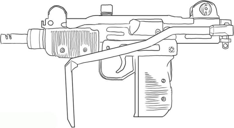 kleurplaat nerf geweer ausmalbilder fr kinder waffe 7