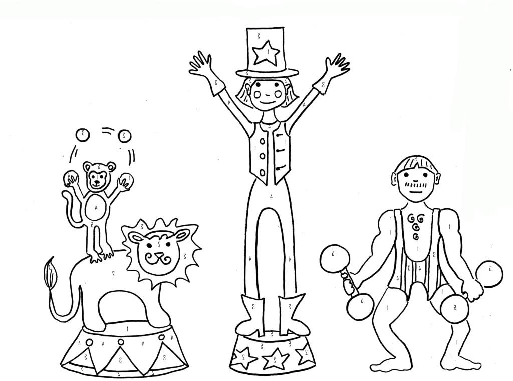 ausmalbilder für kinder zirkus 10