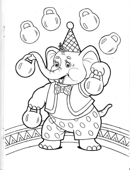 ausmalbilder für kinder zirkus 4