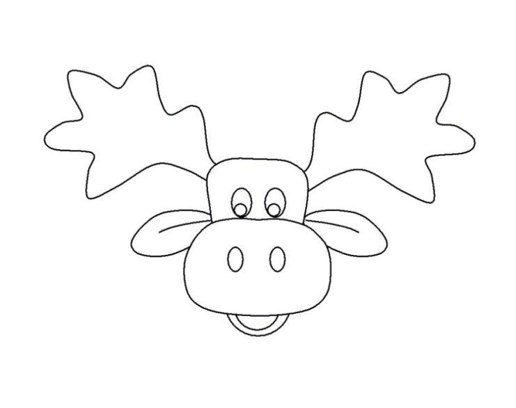 ausmalbilder für kinder elch 1