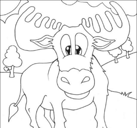 ausmalbilder für kinder elch 13
